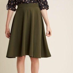 rocksteady thrills olive circle skirt size large